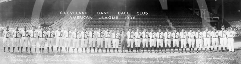 Cleveland Indians Baseball Club, American League, 1936.