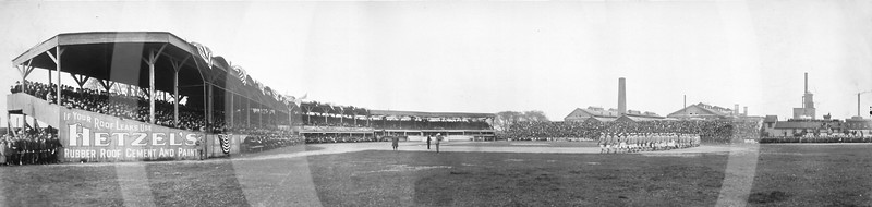 Eastern League opening game between the Rochester Bronchos and Newark Indians, April 21, 1910.