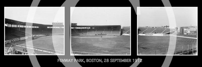 Fenway Park, Boston Red Sox, Boston, Massachusetts. 28 September 1912.