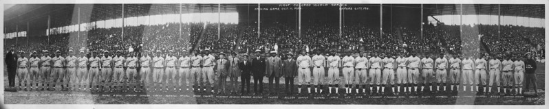 First African American World Series, Opening Game Oct 11, 1924, Kansas City, Mo Monarchs and the Hilldale baseball teams.
