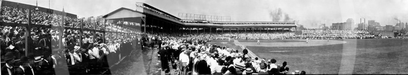 Chicago Cubs NL vs Pittsburg Pirates NL, West Side Park, Chicago, 2 July 1908.