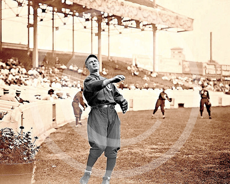Frank Chance, Chicago Cubs NL at Polo Grounds New York 1912