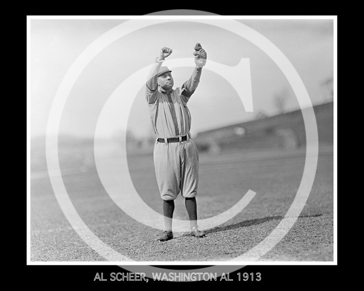 Al Scheer, Washington Senators AL, at University of Virginia, Charlottesville 1913.