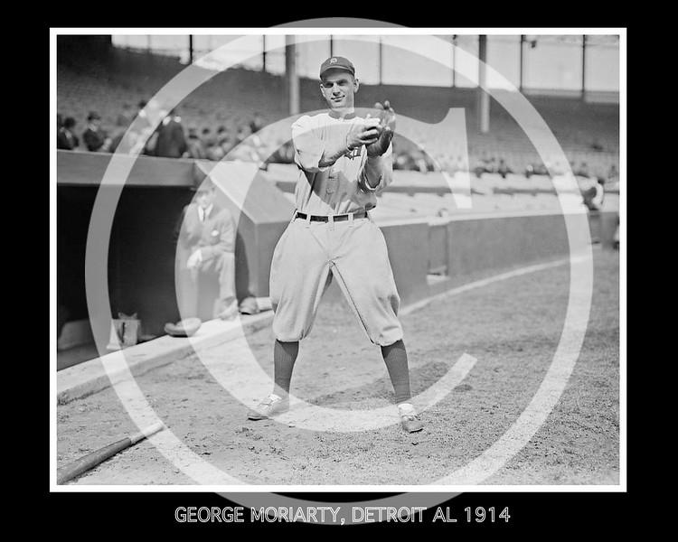 George Moriarty, Detriot Tigers AL, 1914.