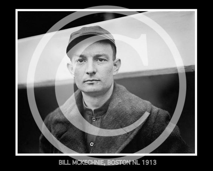 Bill McKechnie, Boston Braves NL, 1913.