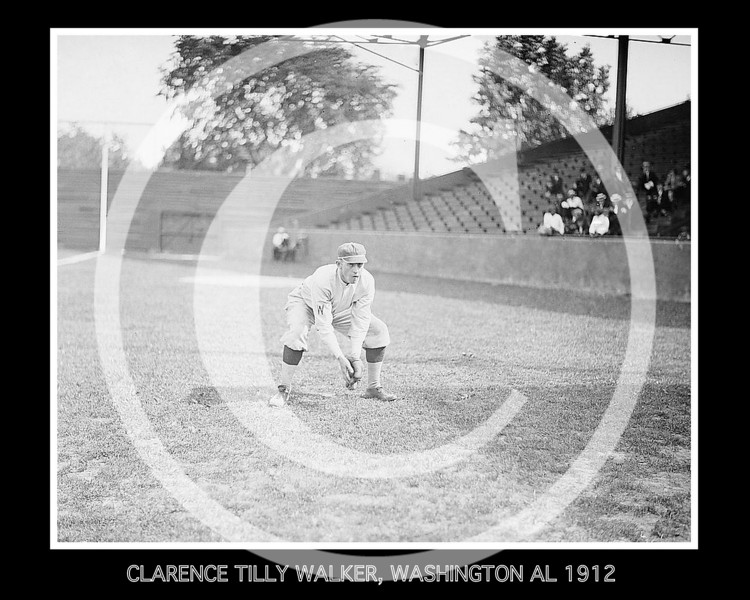Clarence Tilly Walker, Washington Senators AL, 1912.