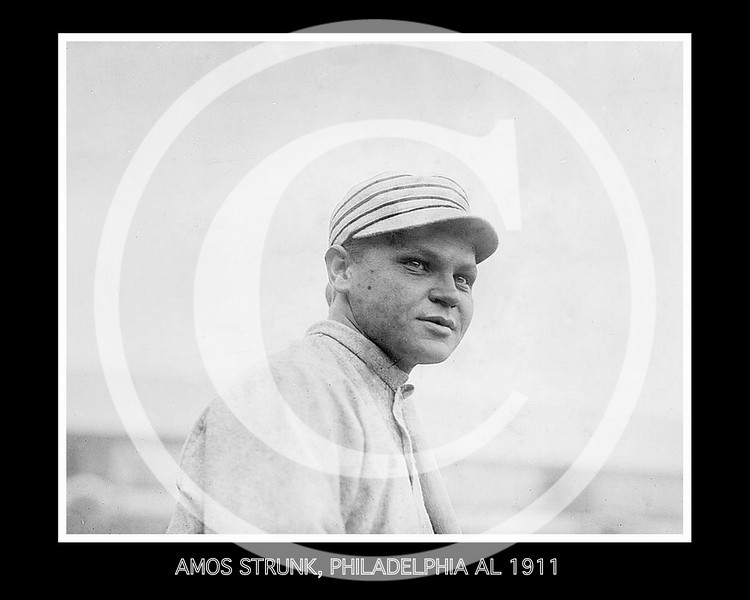 Amos Aaron Strunk,  Philadelphia Athletics AL, 1911.