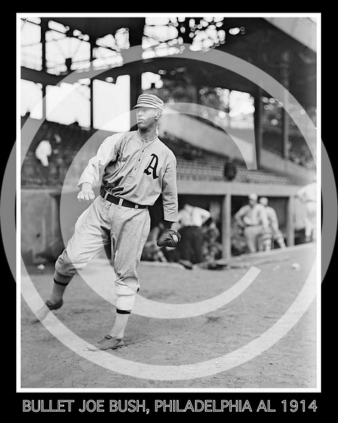 "Leslie Ambrose ""Bullet Joe"" Bush, Philadelphia Athletics AL,  1914."