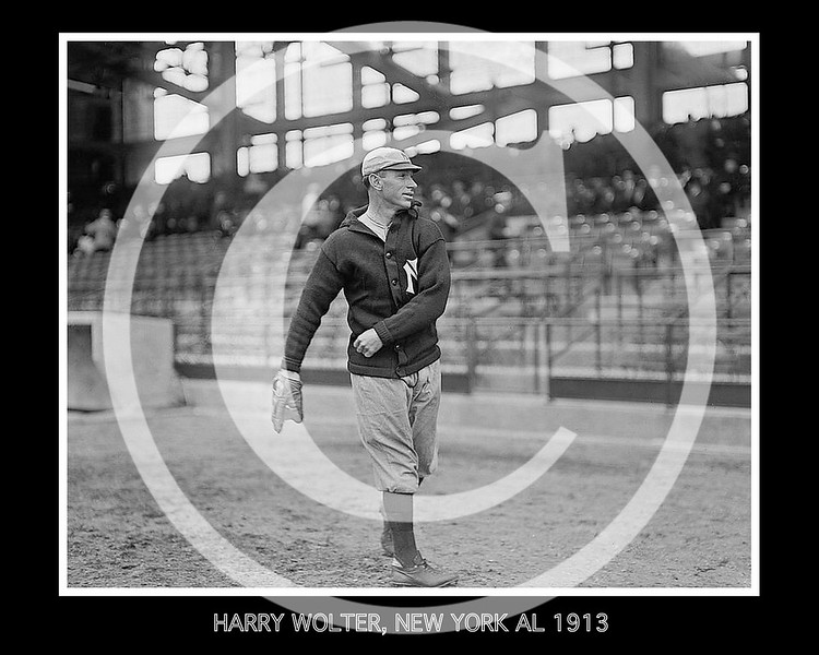 Harry Wolter, New York Yankees AL, 1913.