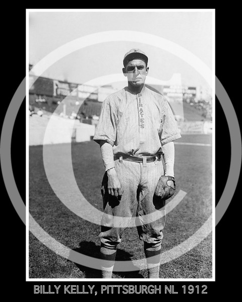 Billy Kelly, Pittsburgh NL, at Polo Grounds, NY 1912
