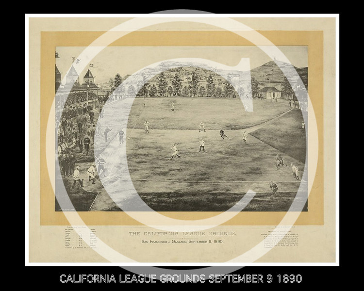 California League Grounds, San Francisco vs. Oakland, September 9, 1890.