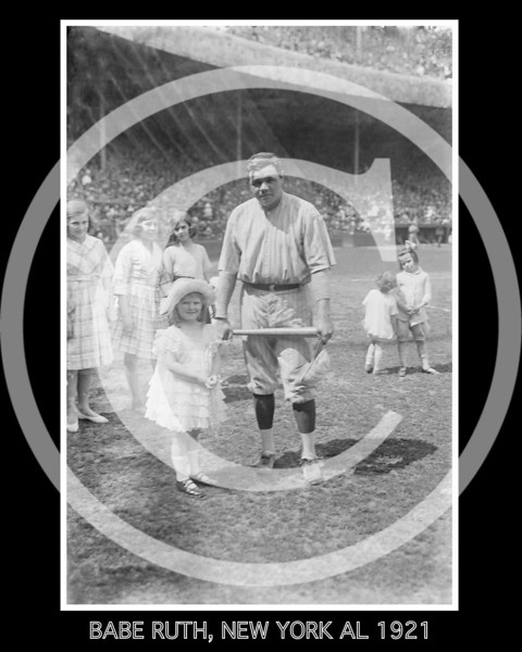 Babe Ruth, New York Yankees AL, 1921.