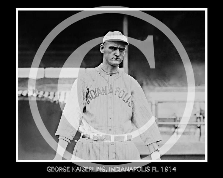 George Kaiserling, Indianapolis Hoosiers, Federal League, 1914.