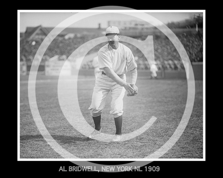 AL BRIDWELL, NEW YORK NL 1909