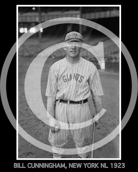 Bill Cunningham, New York Giants NL, 1923.