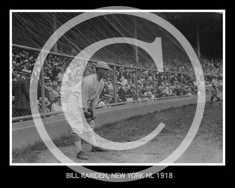 "William Angel ""Bill"" Rariden, New York Giants NL, 1918."