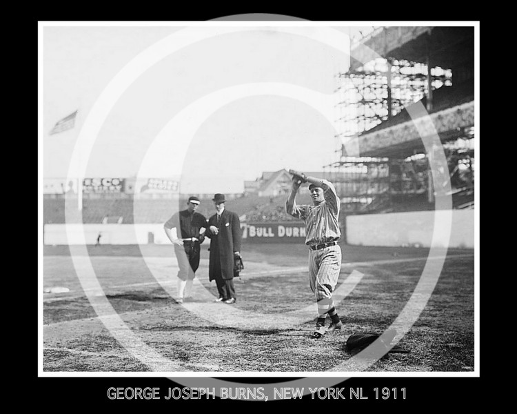 George J. Burns, New York Giants NL, at the 1911 World Series.