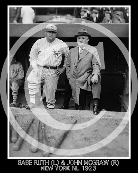Babe Ruth & John McGraw, New York Giants NL, 23 October 1923.