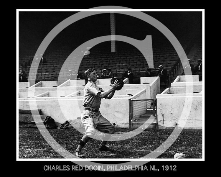 Charles Red Dooin, Philadelphia Phillies NL, 1912.