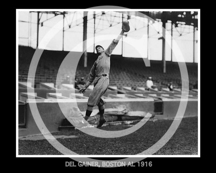 Del Gainer, Boston Red Sox AL, 1916.