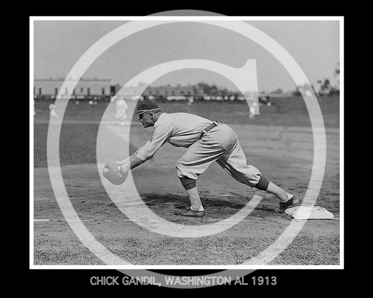 Chick Gandil, Washington Senators AL, 1913.