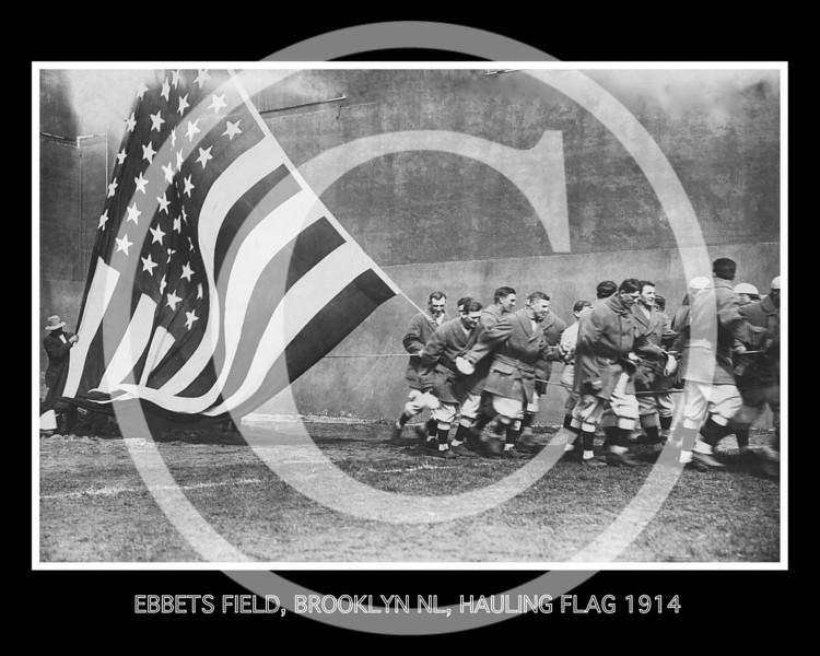 Ebbets Field, New York, Hauling Flag, 14 April 1914.