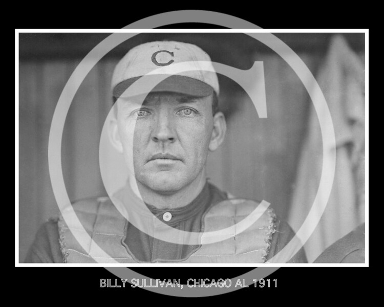 Billy (William Joseph, Sr.) Sullivan, catcher for the Chicago White Sox AL, 13 May 1911.