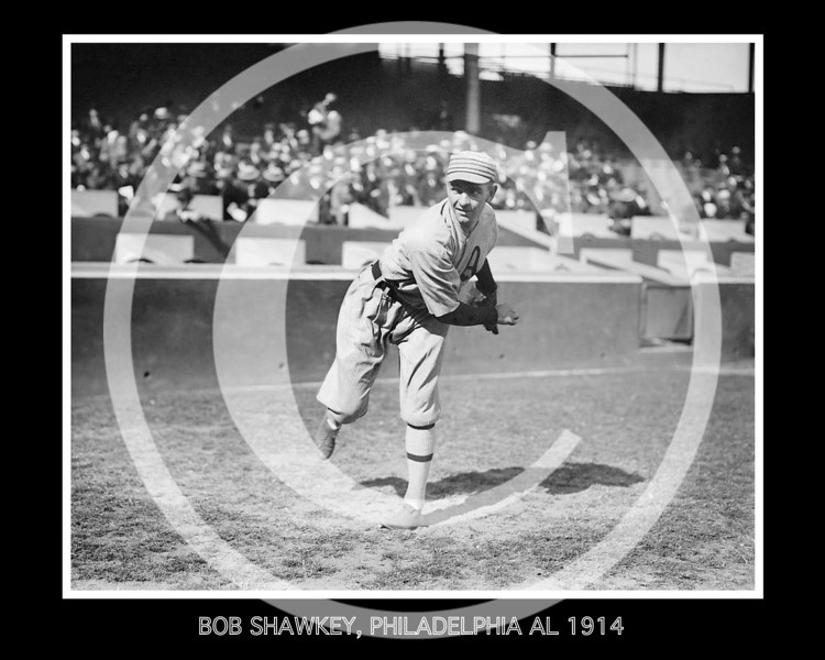 BOB SHAWKEY, PHILADELPHIA AL 1914 # 2