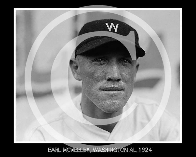 Earl McNeeley, Washington Senators AL, 1924.
