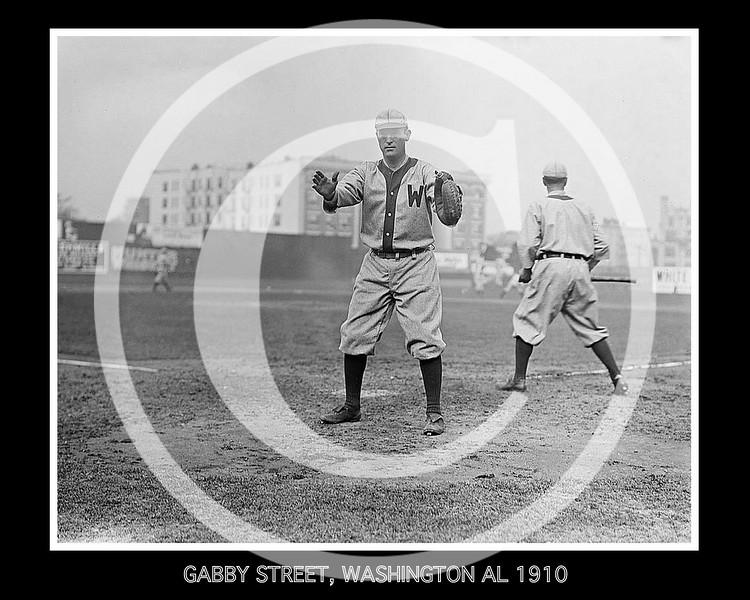 Gabby Street, Washington Senators AL, 1910.