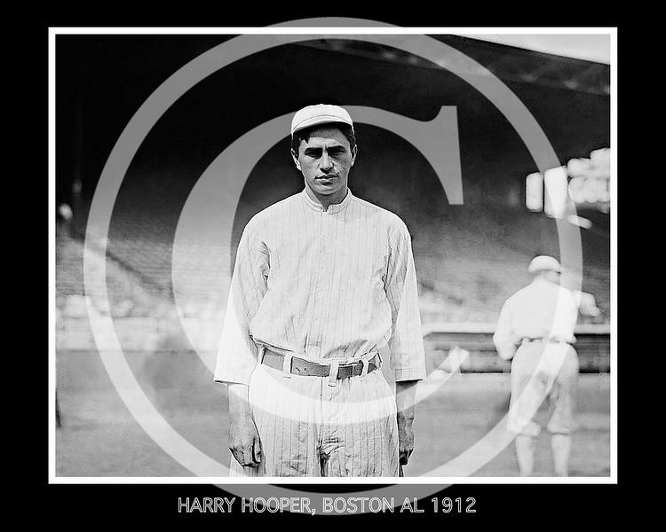 Harry Hooper, Boston Red Sox AL, 1912.