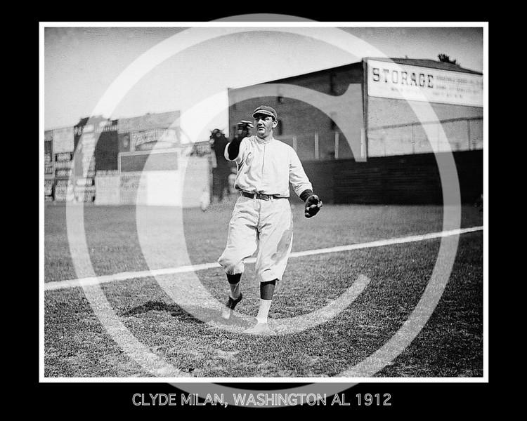 Clyde Milan, Washington  Senators AL, 1912.