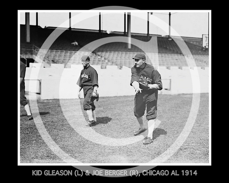 "William Jethro ""Kid"" Gleason & Joe Berger, Chicago White Sox AL, 1914."