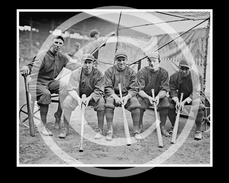 Hank Gowdy, Dick Rudolph, Lefty Tyler, Joey Connolly, Oscar Dugey, Boston Braves NL, 1914.
