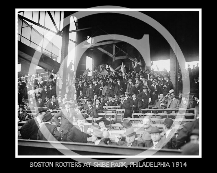 Boston Red Sox Rooters at Shibe Park, Philadelphia PA, 1914.