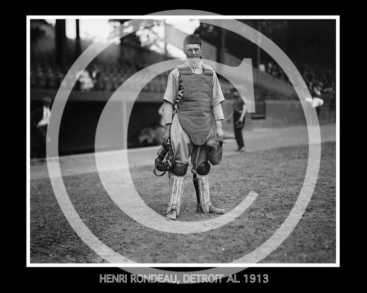 Henri Rondeau, Detroit  Tigers AL, 1913.