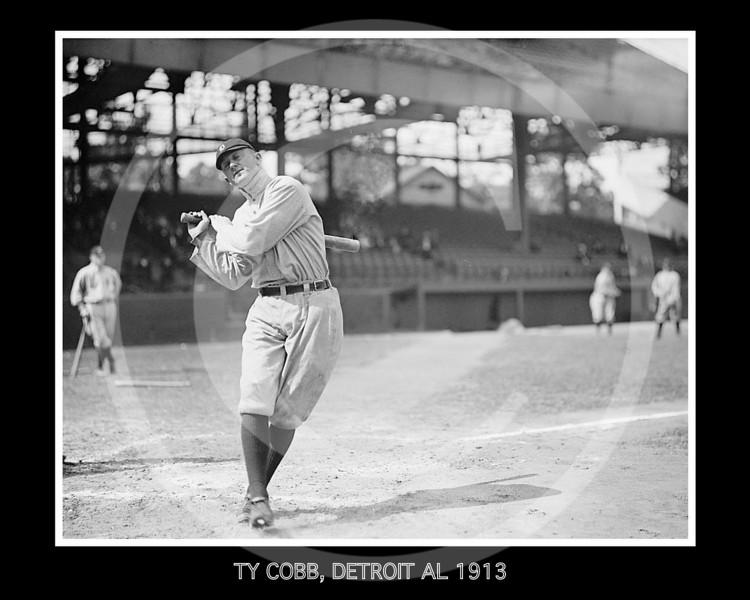 Ty Cobb, Detroit  Tigers AL, 1913.