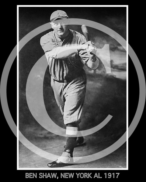 Ben Shaw, New York Yankees AL, prospect in Spring of 1917.