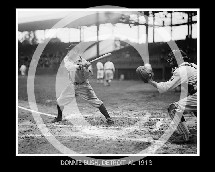 Donie Bush, Detroit Tigers AL, 1913.