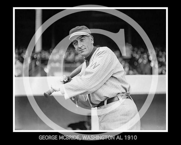 George McBride, Washington Senators AL,  1910.
