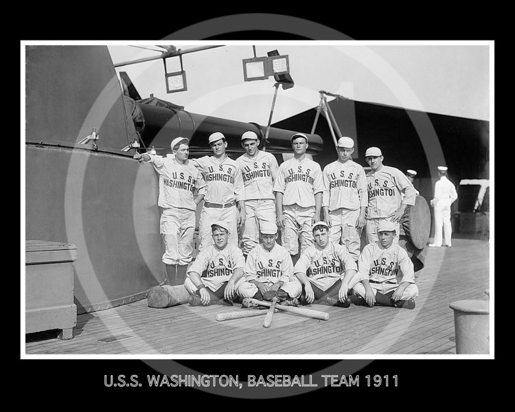 Baseball team of the USS Washington 1911.