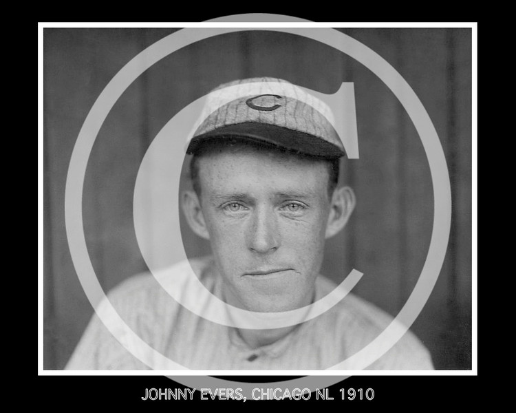 Johnny Evers, Chicago Cubs NL, 16 December 1910.
