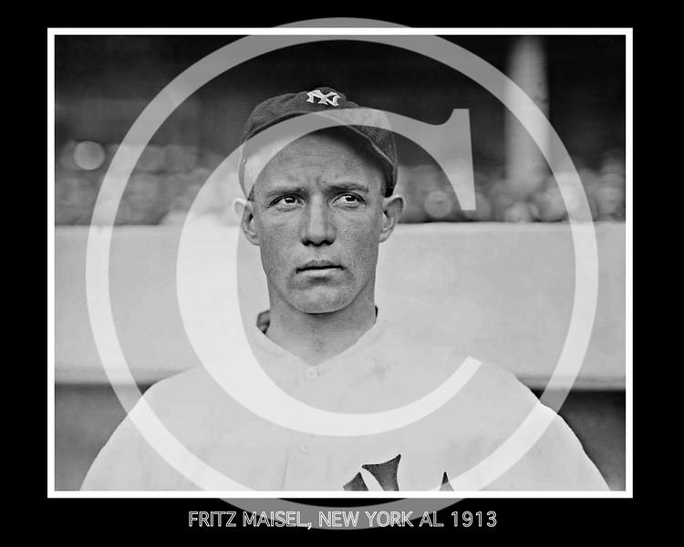Fritz Maisel, New York Yankees AL, 1913.