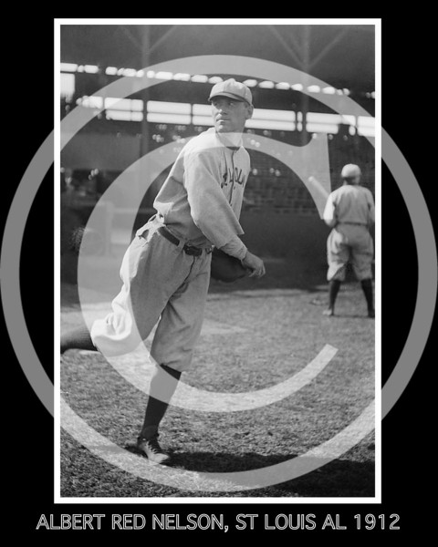 Albert Red Nelson, St. Louis Browns AL, 1912.