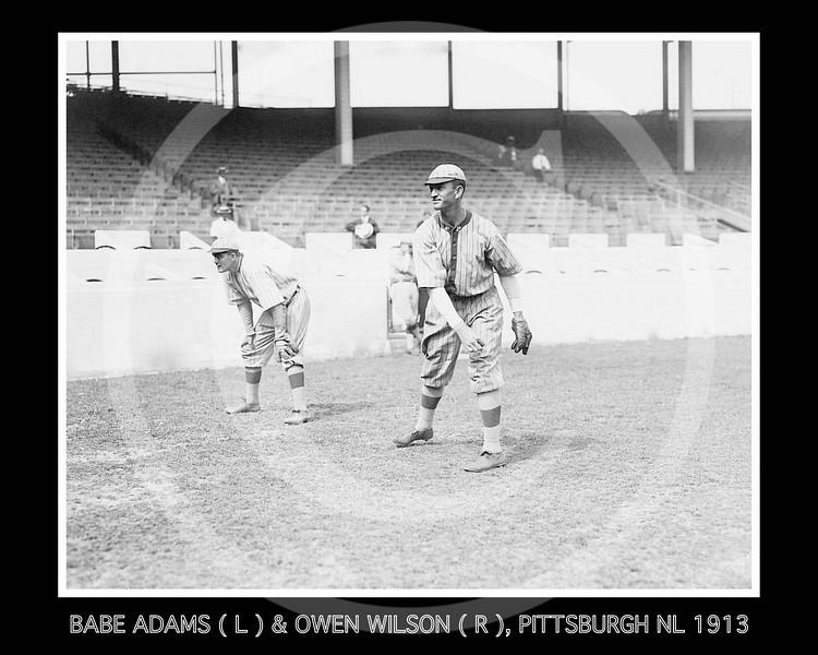Owen Wilson - Babe Adams & Owen Wilson, Pittsburgh Pirates NL, 1913.