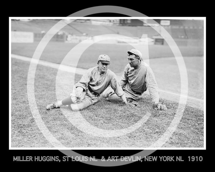 Art Devlin - Miller Huggins, St. Louis Cardinals NL and Art Devlin, New York Giants  NL, 1910.