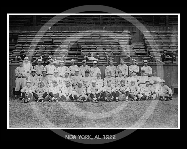 New York Yankees AL, at New Orleans for Spring training, Babe Ruth, centre, 1922.