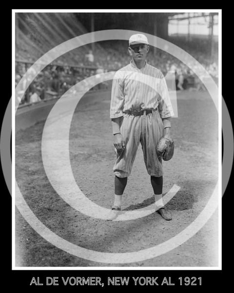 Al DeVormer, New York Yankees AL, 1921.