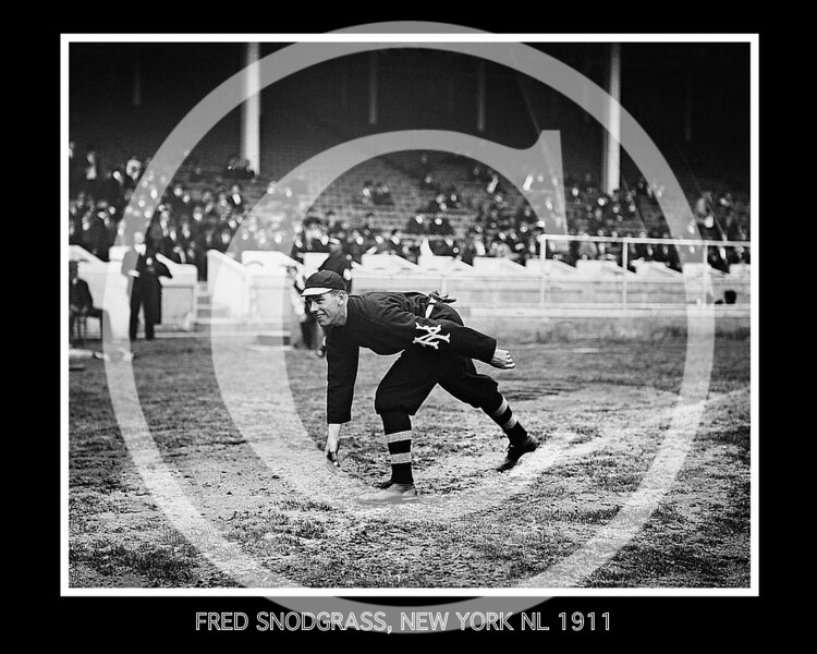 Fred Snodgrass, New York Giants NL, at the 1911 World Series.