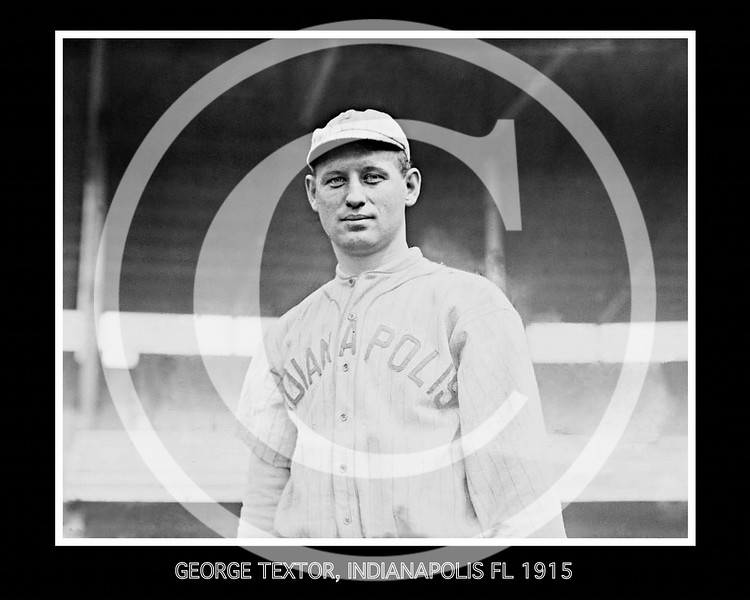 George Textor, Indianapolis Hoosiers, Federal League, 1915.
